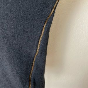 J. Crew Sweaters - J Crew Black Wool Double Zipper Sweater Size Small